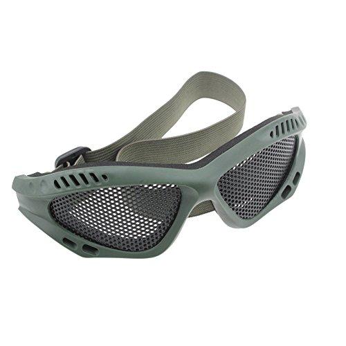Dopobo Maille en métal Lunettes ,Sécurité tactique militaire Airsoft chasse lunettes , lunettes protéger les yeux pour les sport de plein air (vert)