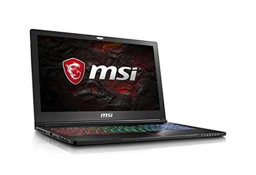 MSI GS63VR Stealth Pro-230 15.6in Ultra Thin and Light Gaming Laptop Intel Core i7-7700HQ GTX 1060 16GB 256GB NVMe SSD + 2TB VR Ready - Metal Chassis (Renewed)
