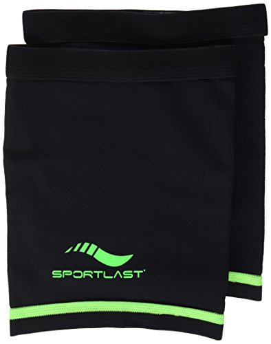 Sportlast Pro Muslera de compresión, Negro/Verde, XL