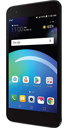 LG Phoenix 4 AT&T Prepaid Smartphone with 16GB, 4G LTE, Android 7.1 OS, 8MP + 5MP Cameras - Black
