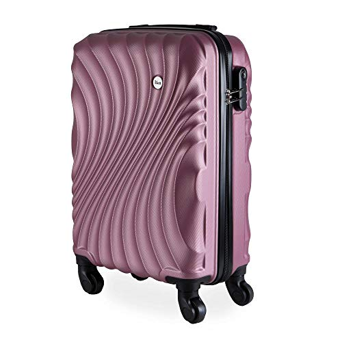 Mala de Bordo Pequena para Viagem em Abs Ika Avalon Cadeado Embutido Rosê