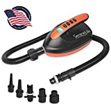 Digital Electric Air Pump Compressor - 110W Rechargeable Quick Air Inflator w/LCD, 0-16 Adjustable...