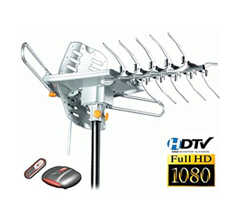 LAVA HD2605 Ultra 4K Motorized Outdoor HDTV UHF/VHF Antenna with Reception up to 125 miles
