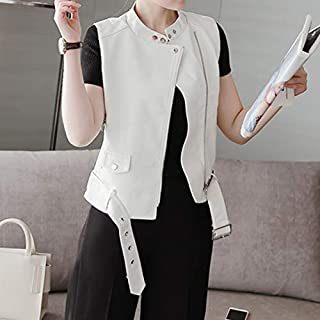 Zyd Office Lady Dress Collar Leather Jacket