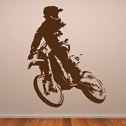 hetingyue Art Deco Cross motorfiets muursticker decoratie vinyl muursticker sticker auto motorfiets muursticker jongen