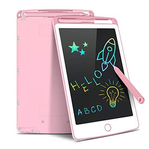 AUTU Tableta de escritura LCD digital eWriter de gráficos electrónicos, portátil, tablero de escritura a mano, cuaderno de dibujo para niños, pantalla colorida de 8,5 pulgadas (rosa)