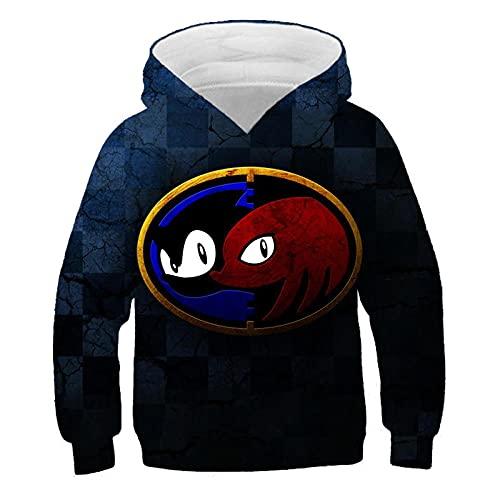 huanglinHG Sudadera con Capucha Divertida Sonic Speed Bule para Niños Sudadera con Estampado 3D Nuevas Camisetas De Manga Larga para Niños Ropa para Niñas Y Niños-Tzwy-11052_120