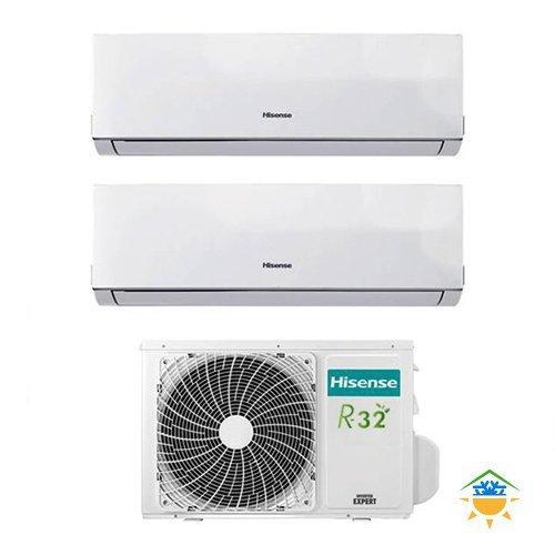 Condizionatore Climatizzatore Inverter Hisense New Comfort Dual Split 9000+12000 9+12 Btu 2AMW50U4RXA R-32 A++