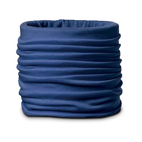 achilles Schlauchschal Atmungsaktivs Multifunktions-Tuch Gesichts-Maske Halstuch Bandana Rund-Schal Kopftuch Mund-Tuch Atemschutz Mund-Schutz Nasen-Bedeckung Sport-Schal 24x50cm Farbe Blau