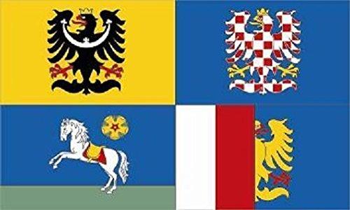 U24 Fahne Flagge Mährisch-Schlesien Bootsflagge Premiumqualität 50 x 75 cm