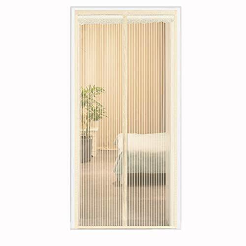 QSTF Magnetische Fliegengitter Tür Halten Insekten Out Mosquito Tür-Schirm Einfache Montage ohne Bohren Top-to-Bottom installieren Seal automatisch for Balkon Schiebetür Wohnzimmer Kinderzimmer, 100X2