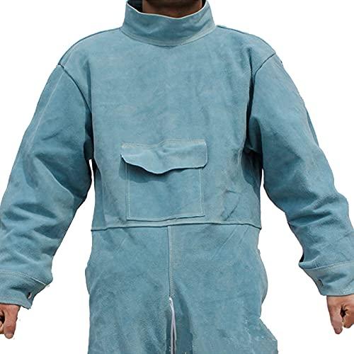 TXYJ Traje de soldadura de cuero siamés, traje eléctrico, bata de caldera,...