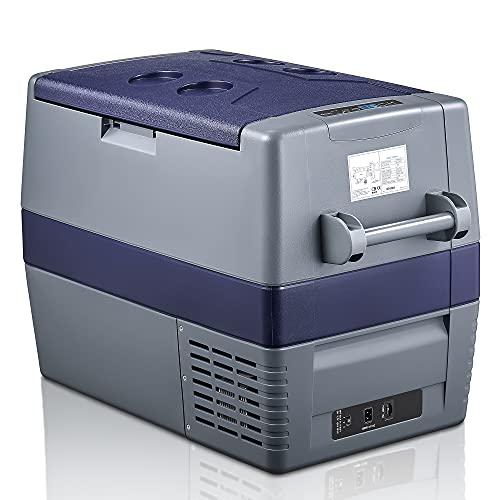 60 Liter Kühlbox 12V Tragbarer Auto-Kühlschrank Elektrische Gefrierbox Klein Gefrierschrank für Auto Camping, Lkw, Boot und 100V-240VSteckdose, -20℃ bis 10℃ (60L-Doppelzone)