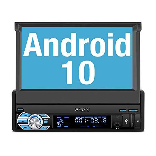 PUMPKIN Android 10 Radio 1 DIN con GPS Navegador, Autoradio