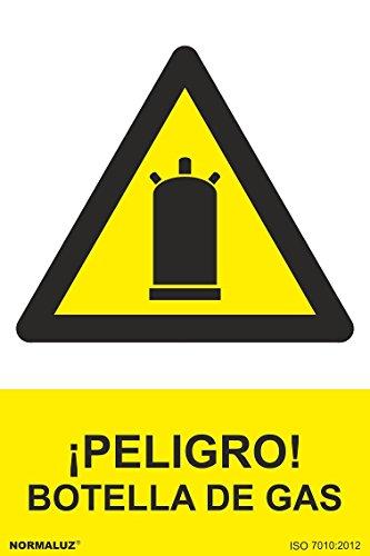 Preisvergleich Produktbild Signal Klebeband rd36631 Gefahr. Flasche Gas 10 x 15 cm hochwertige Vinyl-Skin Gefahr StVZO zugelassen