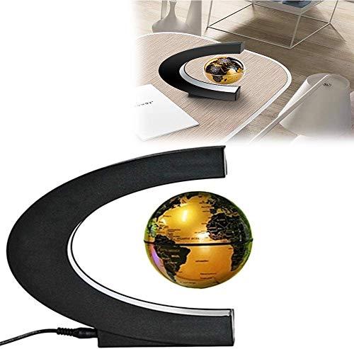 Busirsiz La levitación magnética Globo C Forma de suspensión magnética Globo con luz LED Mejor Regalo de cumpleaños for Padres Estudiantes Maestros de levitación magnética del Mapa del Mundo