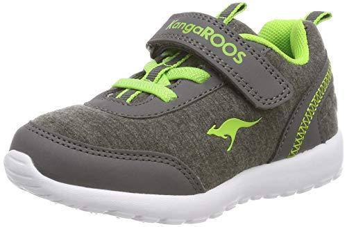 KangaROOS Unisex Baby Citylite EV Sneaker, Grau (Steel Grey/Lime 2014), 21 EU