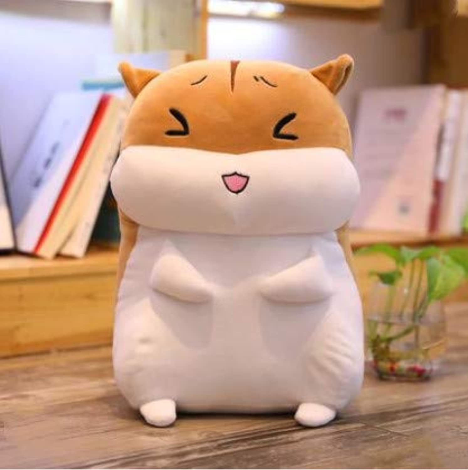 XXCKA Pillow Brown Happy Hamster Doll Plush Toy Bed Doll Doll Birthday Gift 60Cm