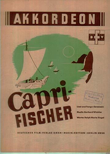 CAPRI FISCHER - arrangiert für Akkordeon [Noten / Sheetmusic] Komponist: WINKLER GERHARD