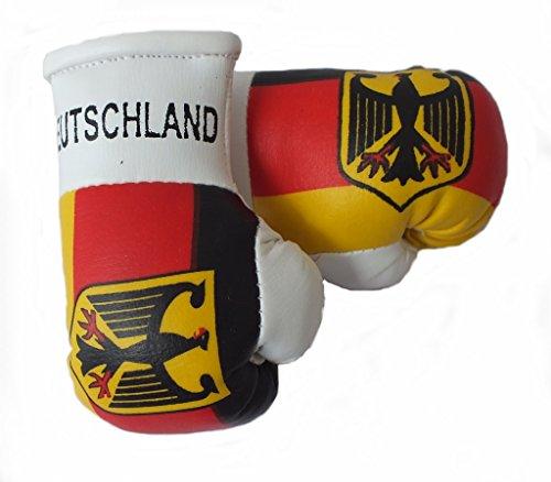 Mini Boxhandschuhe DEUTSCHLAND WAPPEN ADLER/BUNDESADLER, 1 Paar (2 Stück) Miniboxhandschuhe z. B. für Auto-Innenspiegel
