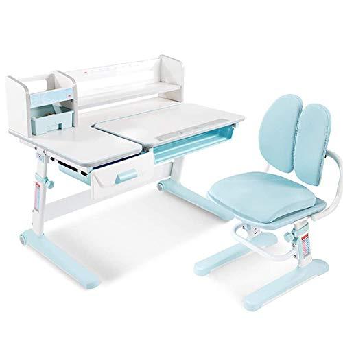 JW-LYYX Kinderschreibtisch, höhenverstellbar, Kinder kombinierte Studientisch und Stuhl-Set, Schulstudent Schreibtisch Schreibtisch Ausziehen Schubladenspeicher