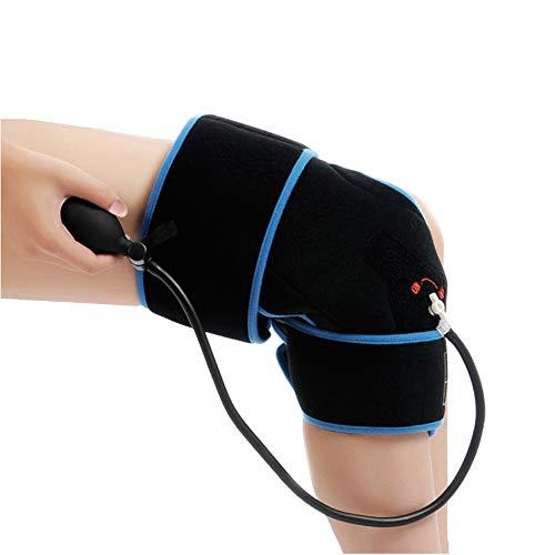 Aufblasbare Kniekompresse Kniebandage mit kühlendem Gelkissen Kühlpack bei Knieschmerzen für Sportler, Senioren usw. bei Meniskus, Arthritis, Schmerzlinderung. Kühlkissen Kühlkompresse Kühlakku Knie.