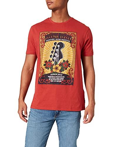 Springfield Camiseta Regular Guitar, Naranja, XXL para Hombre