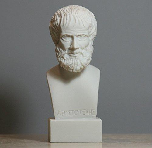 Aristotle, griechischer Philosoph, Wissenschaftler, Alabaster, Büste, Skulptur, 15 cm