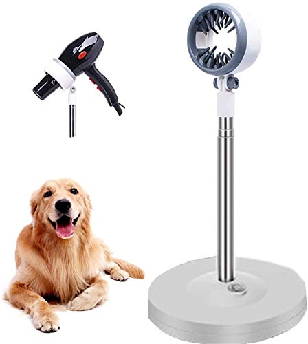 DHGTEP Soporte para Secador de Pelo con Rotación de 180 Grados Soporte para Secador de Pelo de Perro Robusto para Mesa de Peluquería de Mascotas (Color : Blanco)