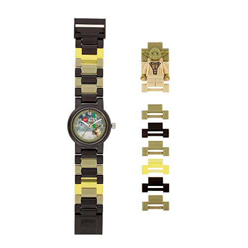 Reloj modificable analógico infantil con figurita de Yoda de LEGO Star Wars 8021032