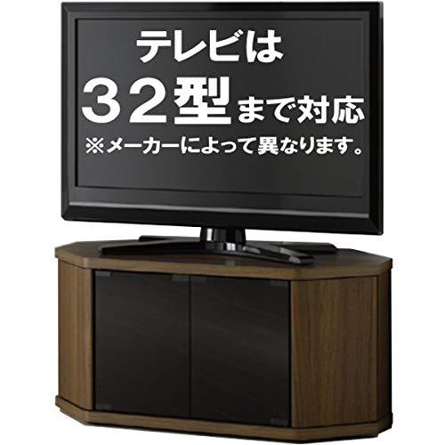 テレビ台コーナーテレビラック木製32インチ32型対応ロータイプTV台AVラックテレビボードキャスター付きコーナーボードおしゃれブラウンrca-av-cr(幅79奥行39高さ39cmrca-800av-cr)