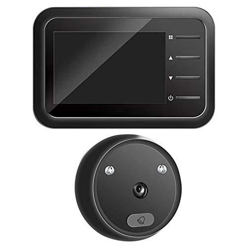 Sbeautli Timbre de la cámara de visión Nocturna Seguridad for el Hogar Digital Visor de la Puerta del Ojo con Mirilla Fácil Instalación