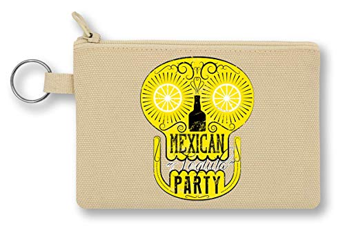 Mexicaanse Party Crazy Skull Drinks Tequila in Summertime Simple Shape portemonnee met ritssluiting