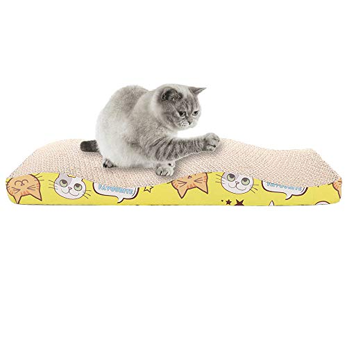 FGASAD Katzenkratzunterlage aus Wellpappe für Katzen, Wellendesign, mit Katzensofa, ultimative Katzenkratzbaum