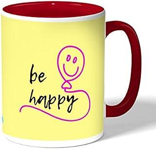 Be happy Coffee Mug by Decalac, Red - 19071