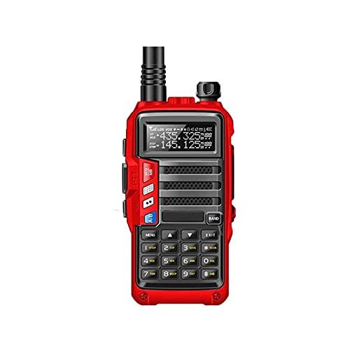 HDCDKKOU CB transceptor de Radio 8W 10 kilometros de Largo Alcance Radio portátil, batería de Alta Capacidad de 8000mAh / FM/Función de Alarma/Built-in Linterna LED, Soporte VOX Función