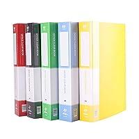 A4情報冊子透明な挿入フォルダファイルブックオフィスフォルダ(5パック) (Size : 80 pages)
