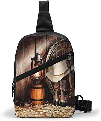 American West Rodeo Cowboy Sling Bag Crossbody hombro al aire libre senderismo bolsa de bolsillo personal para mujeres hombres resistencia al agua