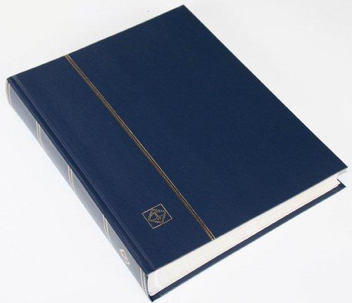 64 weiße Seiten LEUCHTTURM Einsteckbuch Briefmarkenalbum Einband dunkelblau
