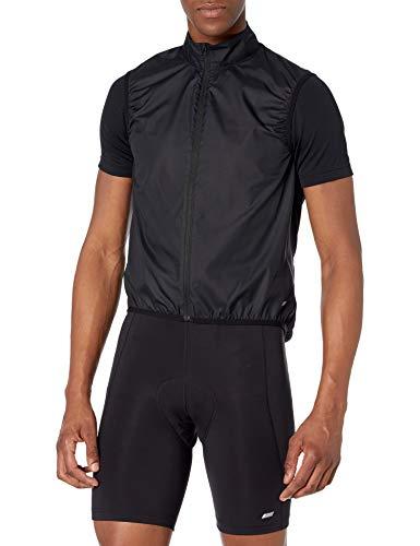 Amazon Essentials Chaleco de Viento de Ciclismo Outerwear-Vests, Negro, US XS (EU XS)