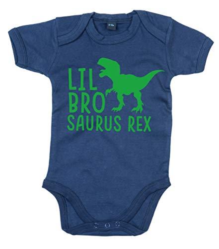 Edward Sinclair Body pour bébé garçon Inscription Lil Bro Saurus Rex - Bleu - 2 mois