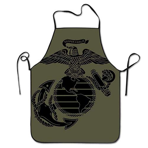 SPXUBZ USMC Marine Corps Short Attitude Women's Men's Machine String for BBQ Cooking Working Grilling Baking Crafting Apron Durable Easy Cleaning Creative Bib for Man and Woman Standar Size