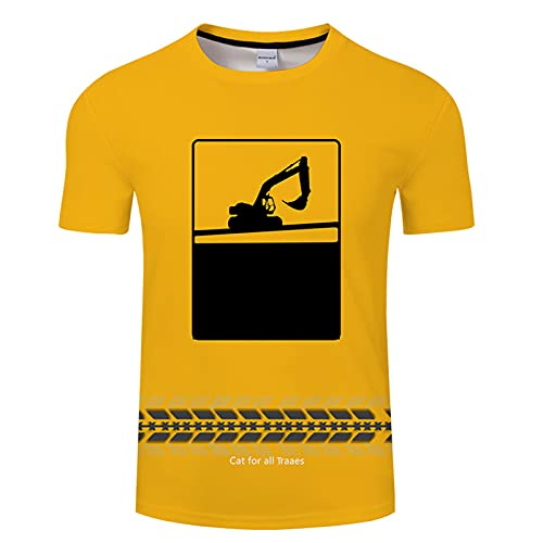 SSBZYES Camiseta De Manga Corta para Hombre Camiseta De Gran Tamaño De Verano para Hombre Camiseta Estampada Camiseta para Hombre Top Simple Camiseta Amarilla
