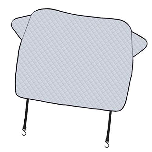MagiDeal Parabrisas Delantero Grueso Y Duradero para SUV, Cubierta Bloqueadora de Escarcha de Invierno, Protector Solar de Verano con Bordes Magnéticos para SU