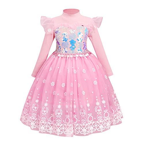 Dziewczęca sukienka księżniczki Królowa Śniegu Krainy lodu ELSA Anna 2 impreza kostium dla księżniczki sukienka karnawałowa urodziny cosplay szalona przebieranie karnawałowa zimowa odzież rozm. 98-140