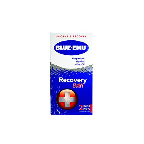 Blue-Emu Magnesium Menthol & Emu Oil Recovery Bath Soothes Muscles & Joints, 2 Count