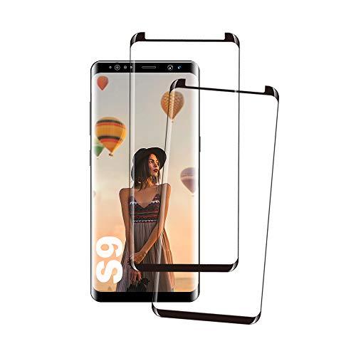Longtech Galaxy S9 Panzerglas Schutzfolie, [2 Stück] Hohe Qualität Gehärtetem Glass [Case Friendly] [9D Runde Kante] [HD Clear] [Blasenfrei] Panzerglasfolie für Samsung Galaxy S9