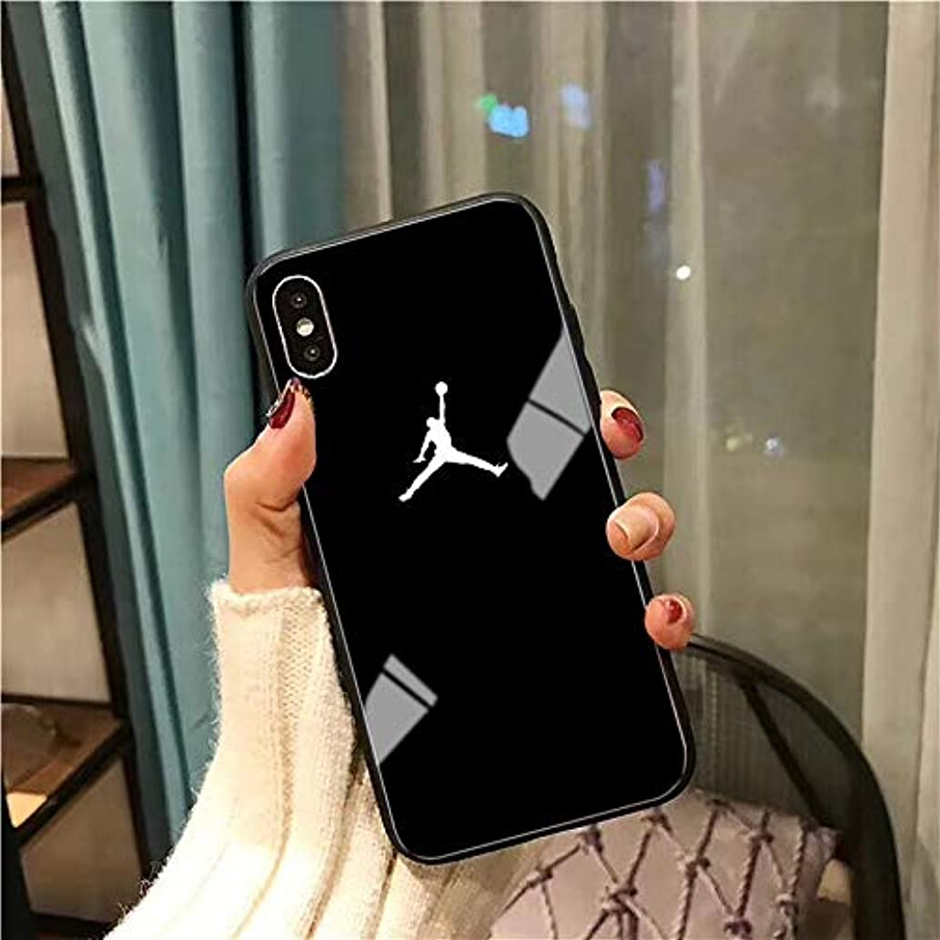 1 piece Flyman Air 23 Jordan Glass Case for iPhone X Xs Max Xr 8 7 6 6s Plus Sports Simple Cover For Samsung S10 S9 S8 Note 9 Coque capa