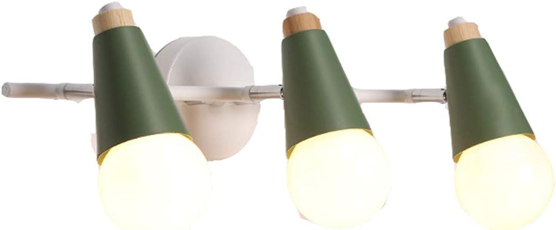 WYRX Spiegelfrontleuchte Led Garderobe Wandleuchte Badezimmer Badezimmerspiegel Schranklampe Schminktisch Schminktisch Spiegellampe GRüN-M
