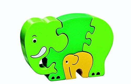Houten puzzel - Olifant Groen